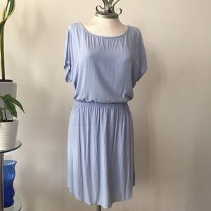 Splendid short sleeve blue dress